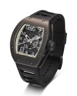 RICHARD MILLE   RM010 A LIMITED EDITION DLC-COATED TITANIUM SEMI-SKELETONISED WRISTWATCH WITH DATE, MADE FOR THE PARIS BOUTIQUE, CIRCA 2010