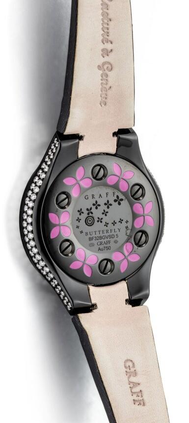 View 3. Thumbnail of Lot 1045. 'Butterfly' Reference BF32BGVSD, 5 Limited Edition Blackened Gold, Purple Sapphire and Diamond-Set Wristwatch | 格拉夫| Butterfly編號BF32BGVSD 5,限量版鍍黑金,紫色剛玉及鑽石腕表,約2010年製.