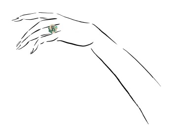 View 4. Thumbnail of Lot 1155. Gem set and diamond ring.