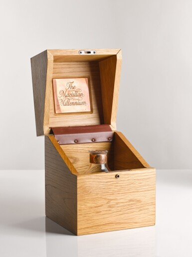 View 2. Thumbnail of Lot 6. THE MACALLAN MILLENNIUM DECANTER 50 YEAR OLD.