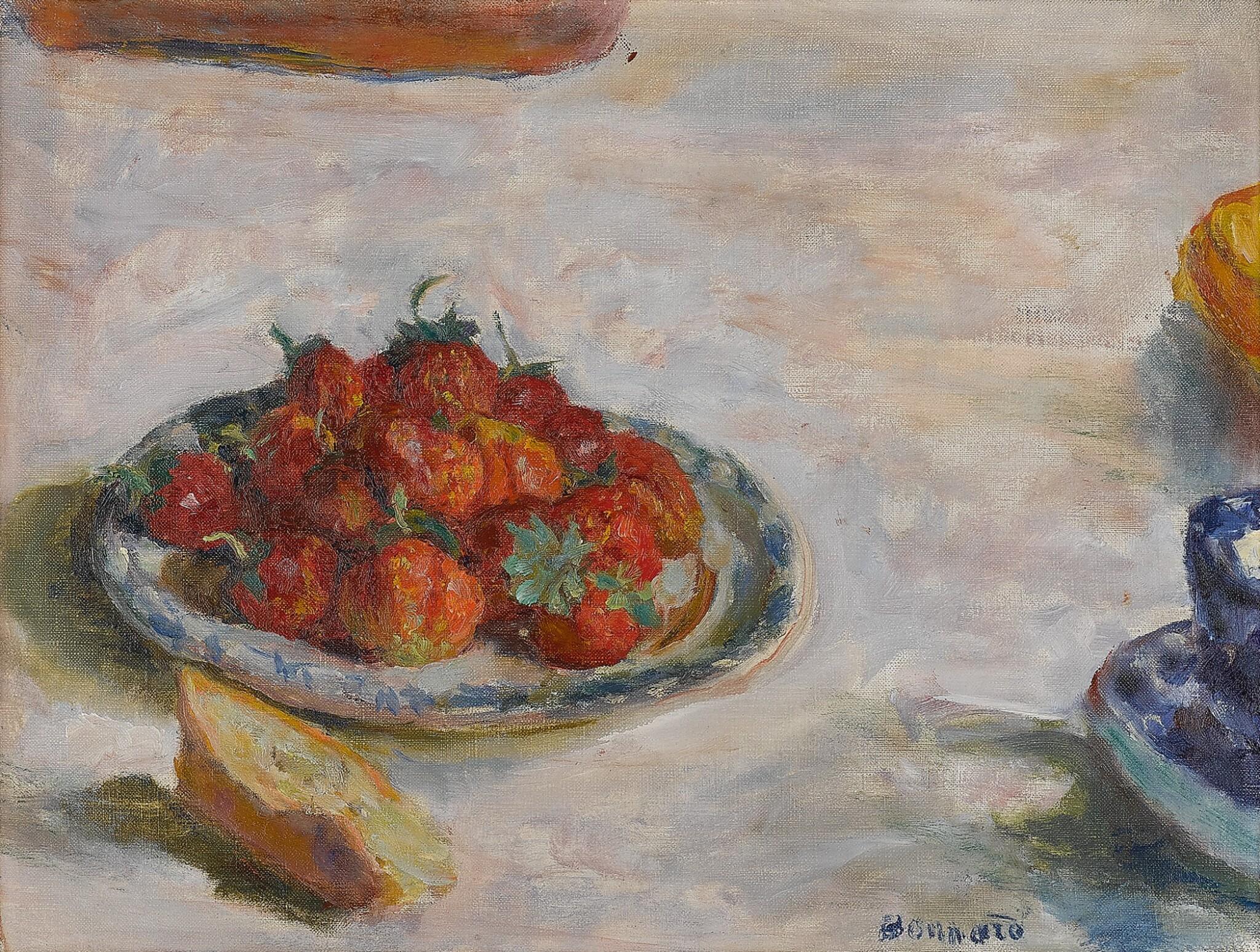 Assiette de fraises