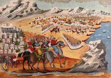 View 1. Thumbnail of Lot 74. Makriyannis & Zografos. Histoire picturale de la guerre de l'indépendance hellénique, 1926. folio. printed wrappers.