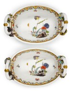 A PAIR OF MEISSEN TWO-HANDLED OVAL BASKETS, CIRCA 1735