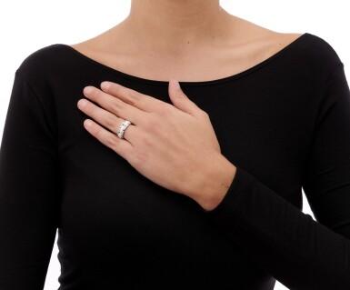 View 4. Thumbnail of Lot 207.  CHANEL   WHITE CERAMIC AND DIAMOND 'ULTRA RING'   (ANELLO IN CERAMICA BIANCA E DIAMANTI).