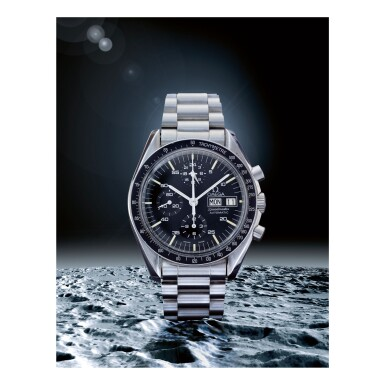 View 1. Thumbnail of Lot 19. OMEGA    SPEEDMASTER REF 376.0822 'HOLY GRAIL',  A STAINLESS STEEL AUTOMATIC CHRONOGRAPH WRISTWATCH WITH BRACELET, MADE IN 1988.
