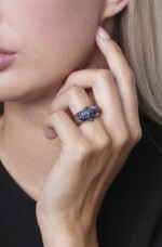 Sapphire and ruby ring, Michele della Valle