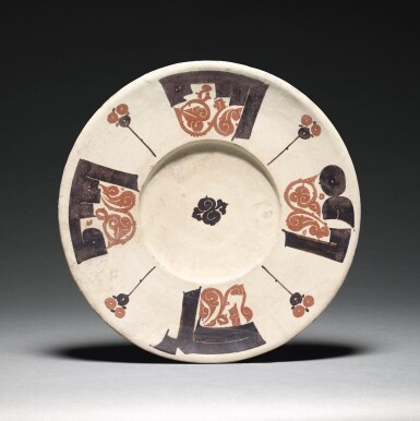 View 1. Thumbnail of Lot 209. A RARE BICHROME CALLIGRAPHIC POTTERY DISH, NISHAPUR OR SAMARQAND, 10TH CENTURY.