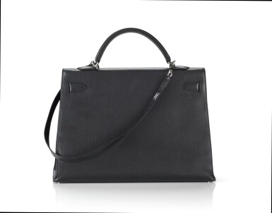 View 2. Thumbnail of Lot 5. KELLY 40 SELLIER EPSOM LEATHER IN BLACK COLOUR WITH PALLADIUM HARWARE. HERMÈS, 2006 .