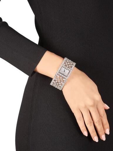 View 4. Thumbnail of Lot 1027. 'Graff Lace' Reference MA20WGDD, Limited Edition White Gold and Diamond-Set Wristwatch   格拉夫  Graff Lace編號MA20WGDD,限量版白金鑲鑽石腕表,約2010年製.