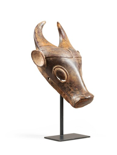 View 1. Thumbnail of Lot 227. Masque, Bamoun, Cameroun   Bamoun mask, Cameroon.