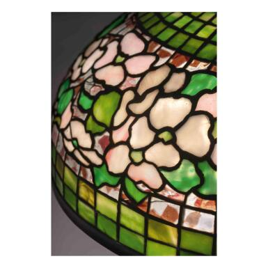 """View 2. Thumbnail of Lot 16. """"Banded Dogwood"""" Table Lamp."""