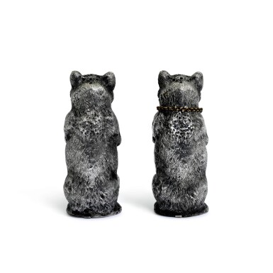 View 3. Thumbnail of Lot 107. A pair of novelty French silver peppers, Désiré Thorel (fils), Paris, late 19th century.