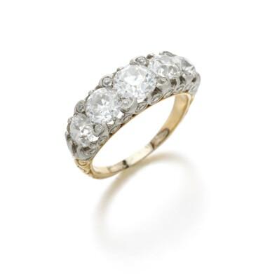 View 2. Thumbnail of Lot 7. Diamond ring (Anello in diamanti).