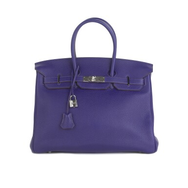 View 1. Thumbnail of Lot 717. HERMÈS | ULTRAVIOLET BIRKIN 35 IN TAURILLON CLEMENCE LEATHER WITH PALLADIUM HARDWARE, 2010.