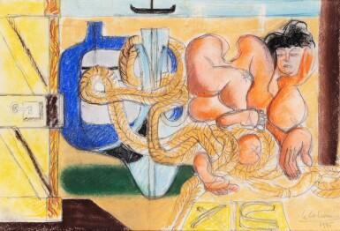 View 1. Thumbnail of Lot 10. LE CORBUSIER | FEMME ÉTENDUE SUR LA PLAGE, BASSIN D'ARCACHON.