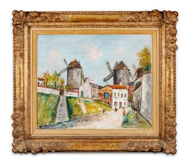 View 3. Thumbnail of Lot 39. Les Trois moulins, Montmartre.