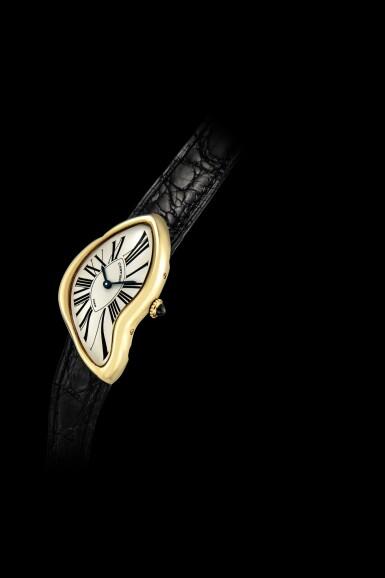 View 4. Thumbnail of Lot 2037. Cartier | Crash, A limited edition yellow gold wristwatch, Circa 1991 | 卡地亞 | Crash 限量版黃金腕錶,約1991年製.