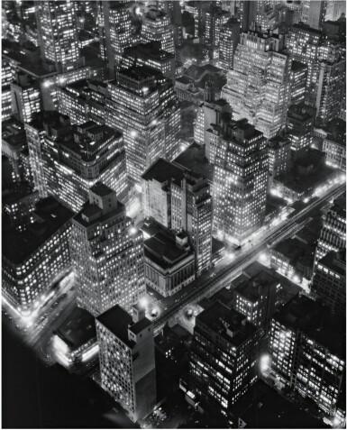 View 1. Thumbnail of Lot 89. BERENICE ABBOTT | NEW YORK AT NIGHT.
