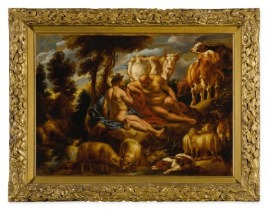 View 2. Thumbnail of Lot 538. Mercury playing Argus to sleep with his flute, with Io transformed into a white heifer.