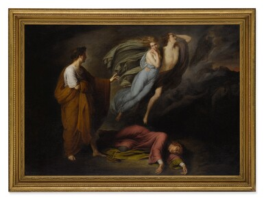 View 2. Thumbnail of Lot 23. STYLE OF ARY SCHEFFER | DANTE AND VIRGIL MEET FRANCESCA DA RIMINI AND PAOLO MALATESTA.