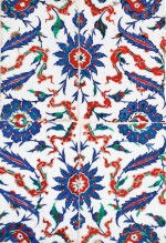 AN IZNIK POLYCHROME POTTERY TILE PANEL, TURKEY, CIRCA 1575