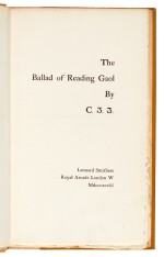 WILDE | The Ballad of Reading Gaol, 1898, 1 of 800 copies
