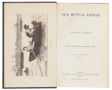 Dickens, Our Mutual Friend, 1865, first book edition, possible variant publisher's cloth