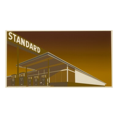 View 1. Thumbnail of Lot 55. ED RUSCHA | MOCHA STANDARD (ENGBERG 30).