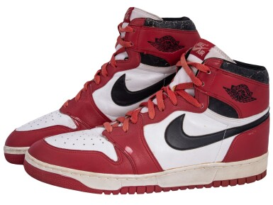 1985-86 Michael Jordan Game Used & Signed Air Jordan Dunk Sole Sneakers -1st Pair Ever Offered for Public Sale (JSA)