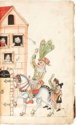 Schönbartbuch (titled 'Schempart Buch'), in German [Germany (Nuremberg), late 16th century]