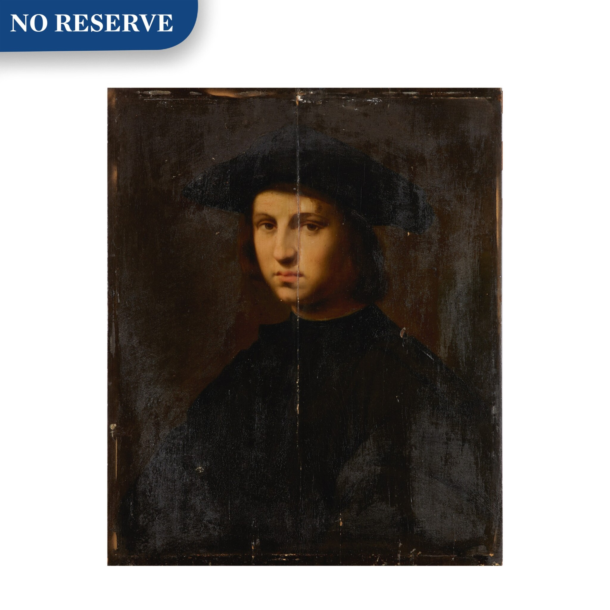 View full screen - View 1 of Lot 12. Portrait of a young man in black.