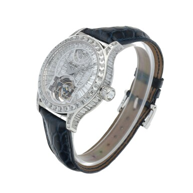 View 2. Thumbnail of Lot 59. L.U.C. Tourbillon, Ref. 171908-1001 Limited edition white gold and diamond-set tourbillon wristwatch with power reserve indication and total diamond weight of 22.95 carats Made in 2005 | 蕭邦171908-1001型號「L.U.C. Tourbillon」限量版白金鑲鑽石陀飛輪腕錶備動力儲存顯示,鑽石總重22.95克拉,2005年製.