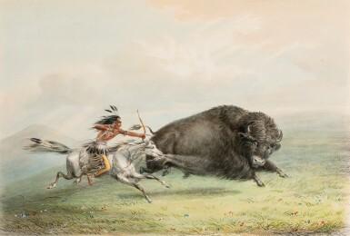 View 3. Thumbnail of Lot 146. CATLIN. North American Indians portfolio. Londres, 1844. 25 planches coloriées à la main. Premier tirage..