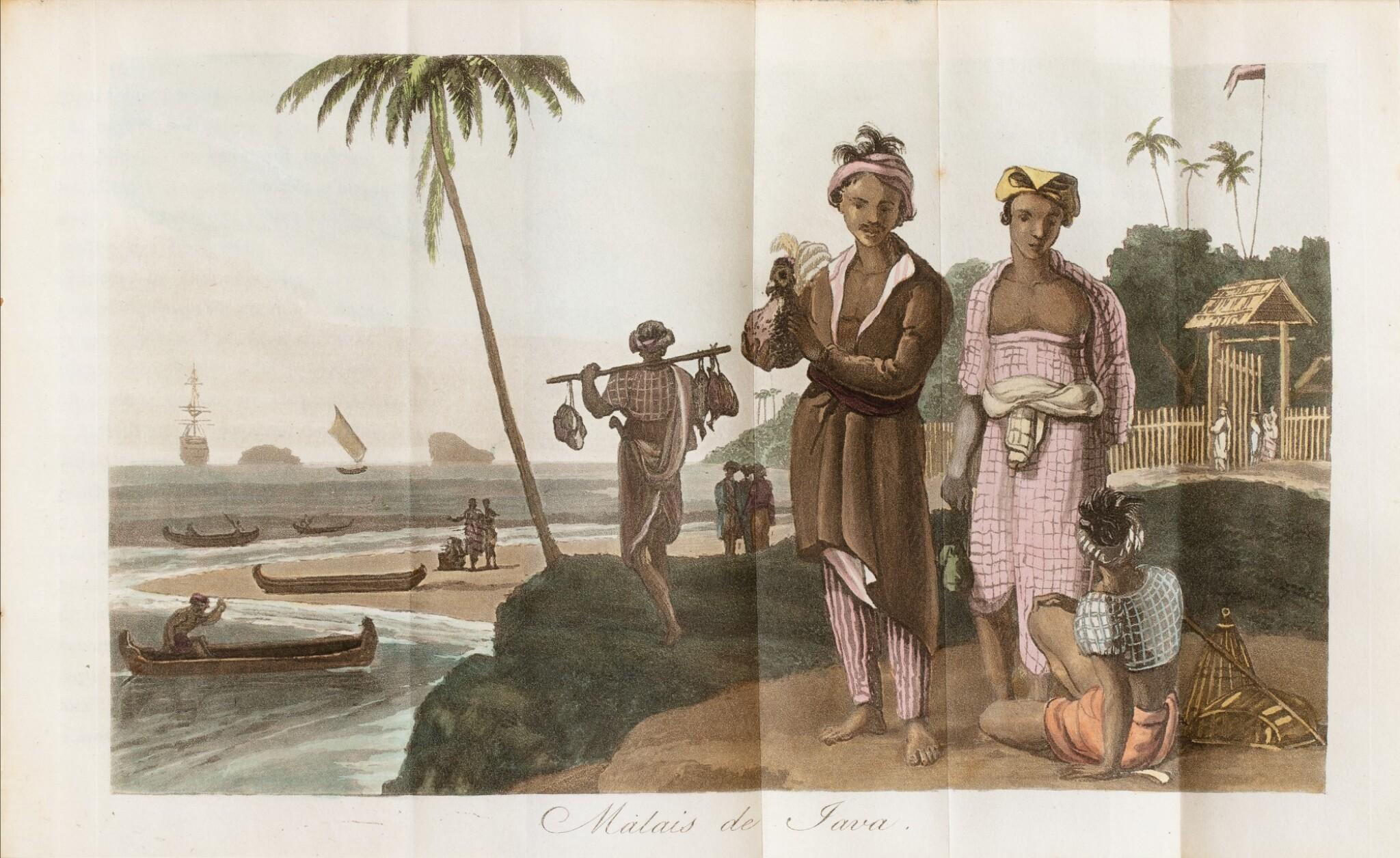 View 1 of Lot 30. WALCKANAER. Le Monde maritime...Nepveu, 1818. 3 vol. in-16, basane brune ornée de l'époque. .
