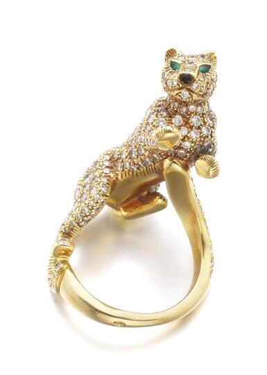 DIAMOND, EMERALD AND ONYX RING, 'PANTHÈRE' | CARTIER