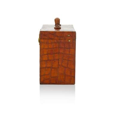 View 4. Thumbnail of Lot 98. Art Deco Torino Crocodile Skin Gentleman's Dressing Case, Complete with all of the Original Fittings commissioned in 1934..