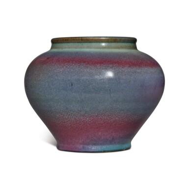 View 3. Thumbnail of Lot 197. A 'Jun' purple-splashed jar, Yuan / Ming dynasty | 元 / 明 鈞窰天藍釉紫斑罐.