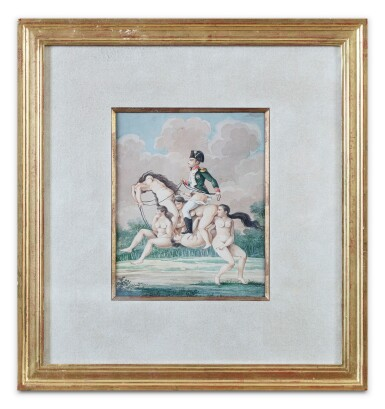 View 2. Thumbnail of Lot 42. French School circa 1810, Napoléon riding on a horse made of nude women.