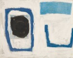 WILLIAM SCOTT, R.A. | COMPOSITION, BLUE WITH COLLAGE