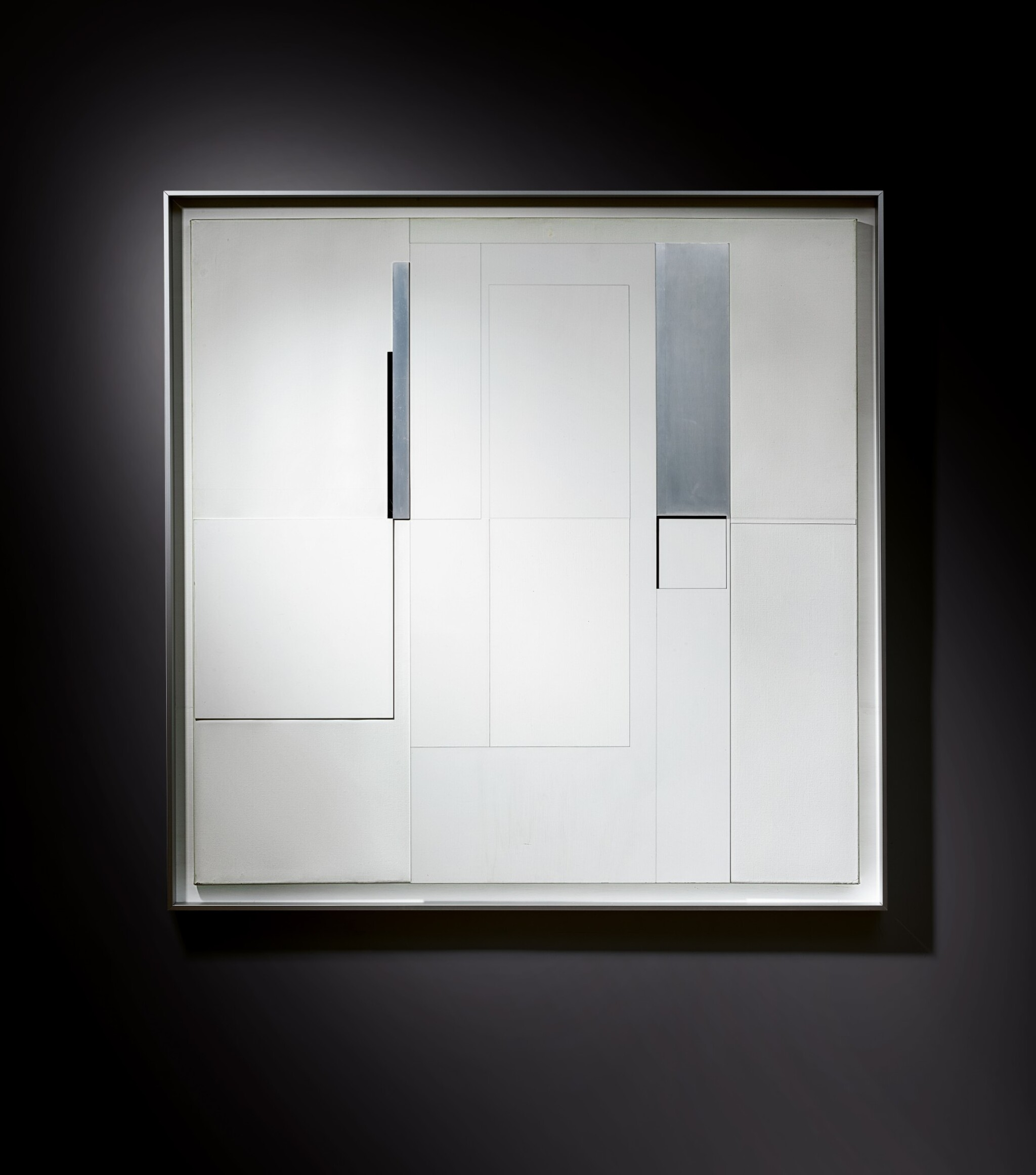 View full screen - View 1 of Lot 1048. Richard Lin 林壽宇 | Painting Relief 20.5.1963 繪畫浮雕 20.5.1963.