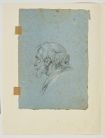 CIRCLE OF GIOVANNI BATTISTA TIEPOLO | Two head studies: A) Portrait of an old man in profile, looking right, wearing a turban; B) portrait of an old man, in profile, looking left