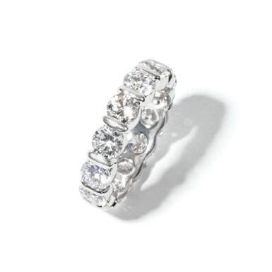 View 2. Thumbnail of Lot 6. Diamond Band Ring.