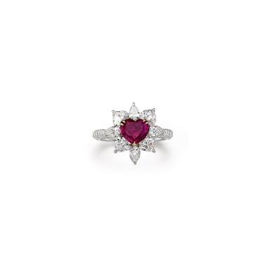 RUBY AND DIAMOND RING  1.86卡拉 紅寶石 配 鑽石 戒指
