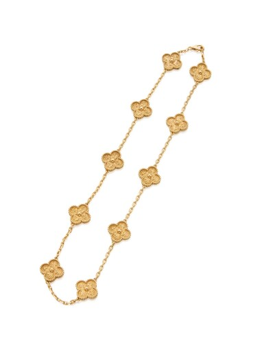 GOLD 'VINTAGE ALHAMBRA' NECKLACE, VAN CLEEF & ARPELS