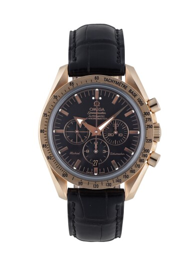 View 1. Thumbnail of Lot 12. OMEGA   SPEEDMASTER MICHAEL SCHUMACHER LIMITED EDITION PINK GOLD CHRONOGRAPH WRISTWATCH WITH DATE CIRCA 2003.