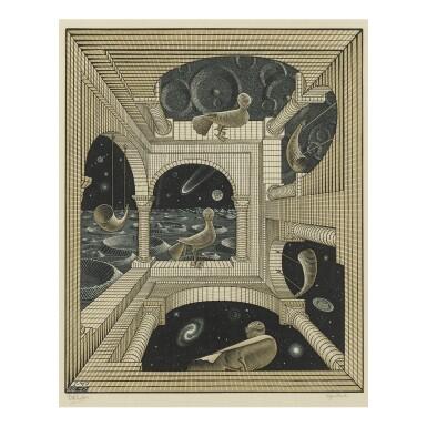 View 1. Thumbnail of Lot 100. M. C. ESCHER | OTHER WORLD (B./K./L./W. 348).