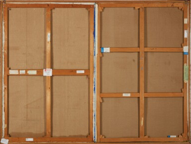 View 3. Thumbnail of Lot 115. Obstacles, Parcours et Reflets (Ostacoli, Percorsi e Riflessi) (diptych).