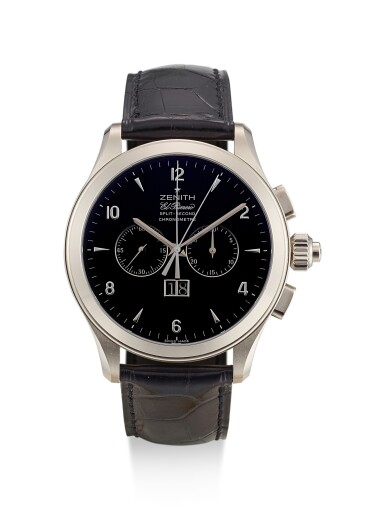 ZENITH   EL PRIMERO GRANDE CLASS, REFERENCE 65.0520.4026, A LIMITED EDITION WHITE GOLD SPLIT SECONDS CHRONOGRAPH WRISTWATCH WITH DATE, CIRCA 2008