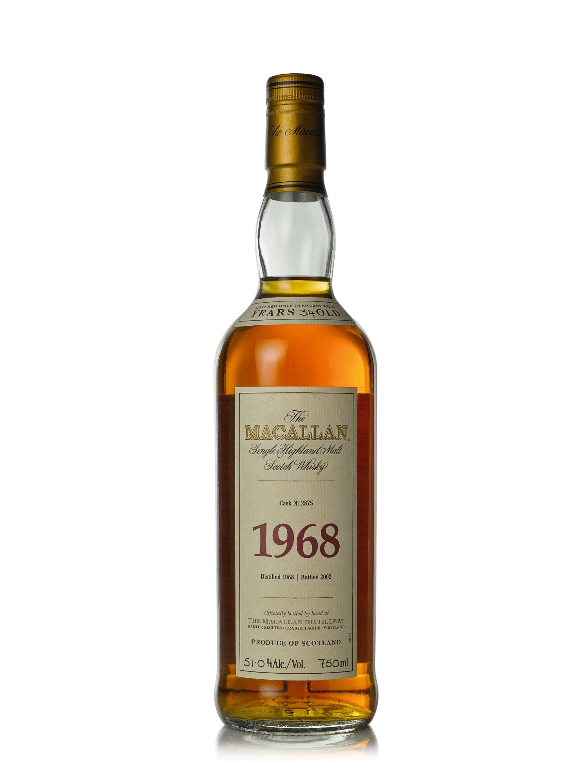 View full screen - View 1 of Lot 6. The Macallan Fine & Rare 34 Year Old 51.0 abv 1968 (1 BT75cl).