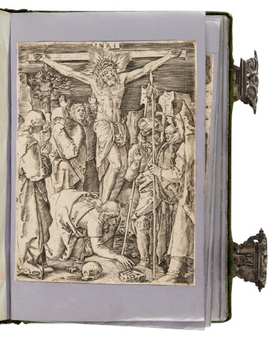 View 4. Thumbnail of Lot 109. [Dürer], A set of engravings copied from Dürer's Small Passion, in a silver binding.